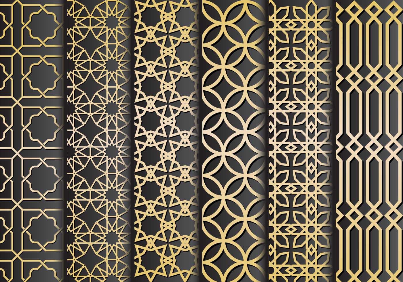 Black Gold Islamic Painting