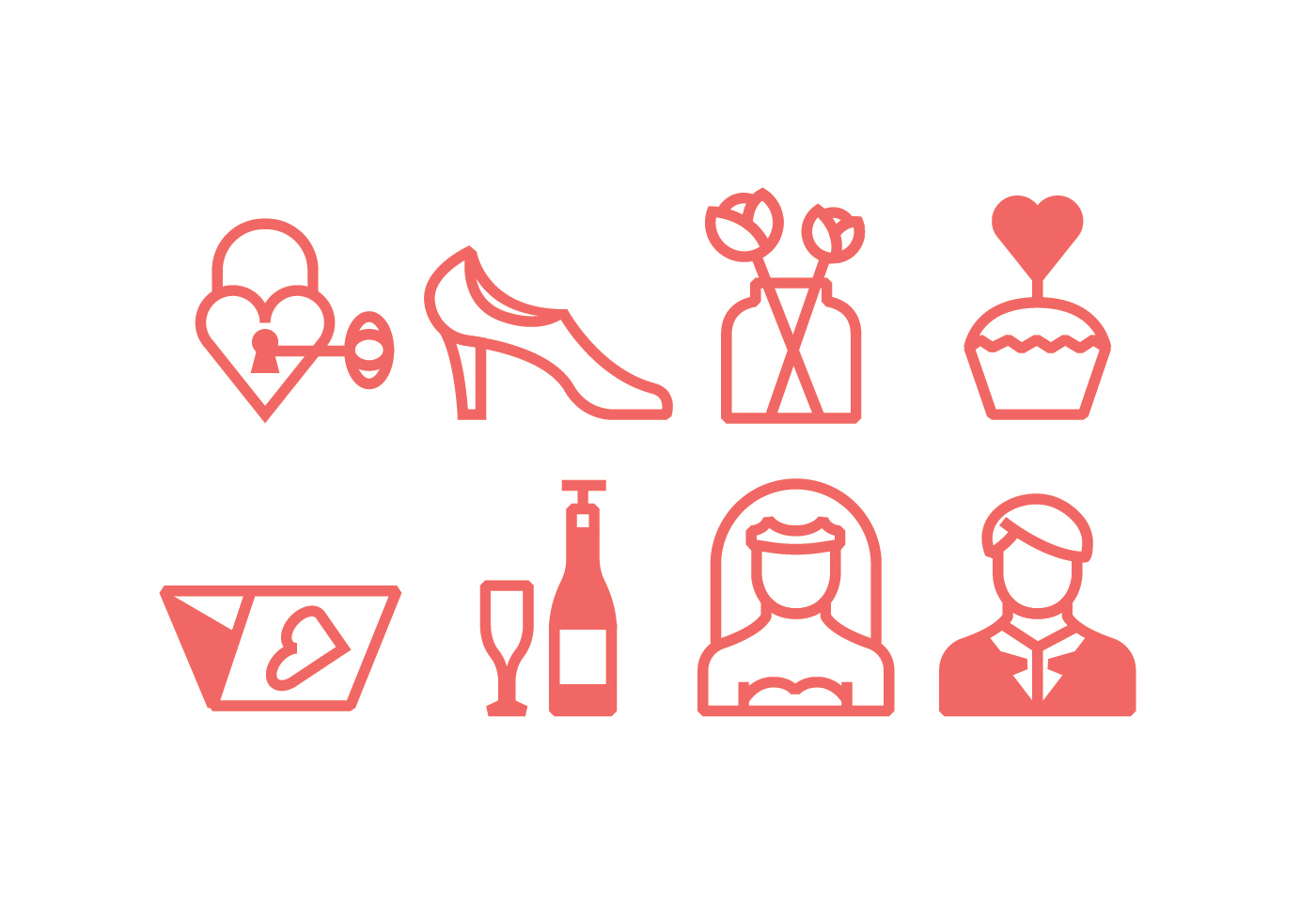 Linear Wedding Ceremony Icons - Download Free Vector Art, Stock ...
