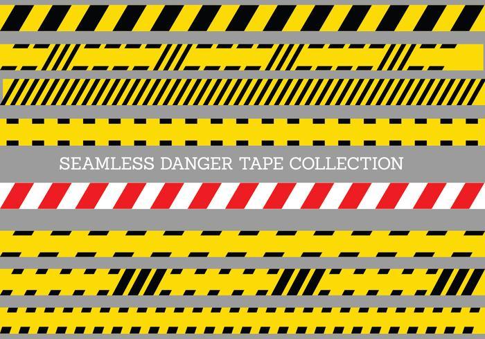 Seamless Danger Tape Mall vektor