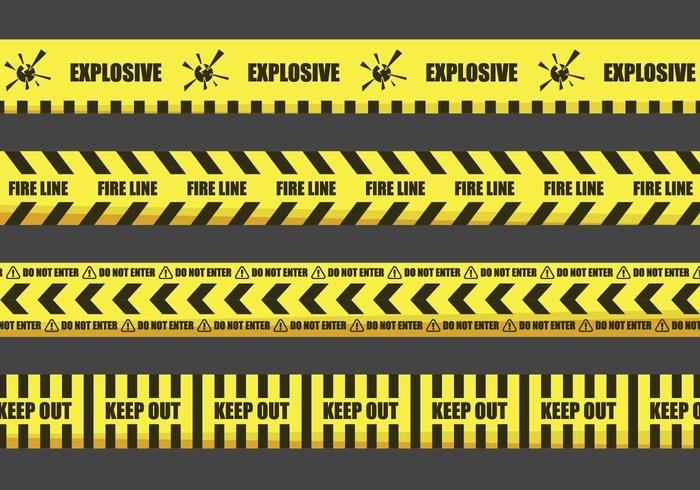 Advertencia de cinta Ilustraciones