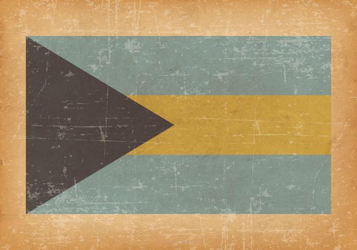 Bahamas Flag On Old Grunge Background