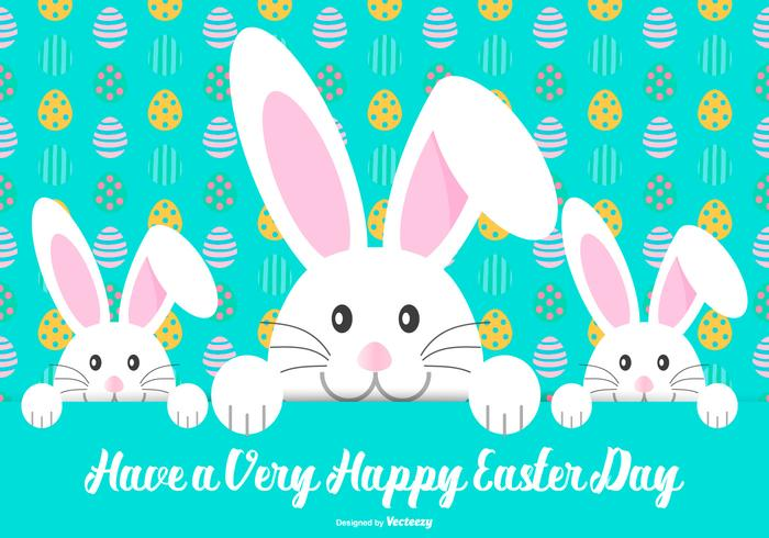 Cute Happy Easter Illustration
