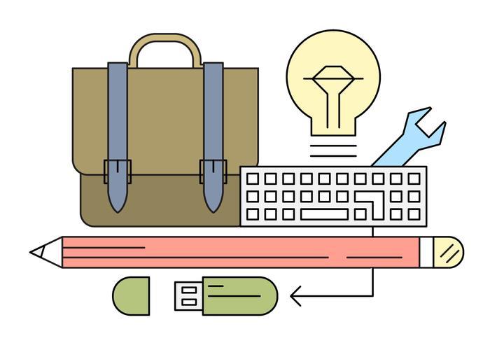 Free Office Ideas Vector Set