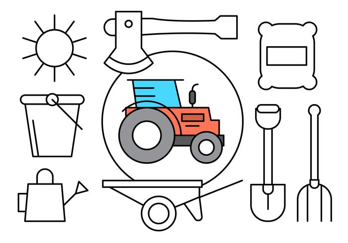 Freie Linear Farming Icons