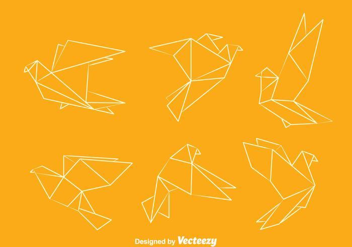 Origami Pigeon Vektorer
