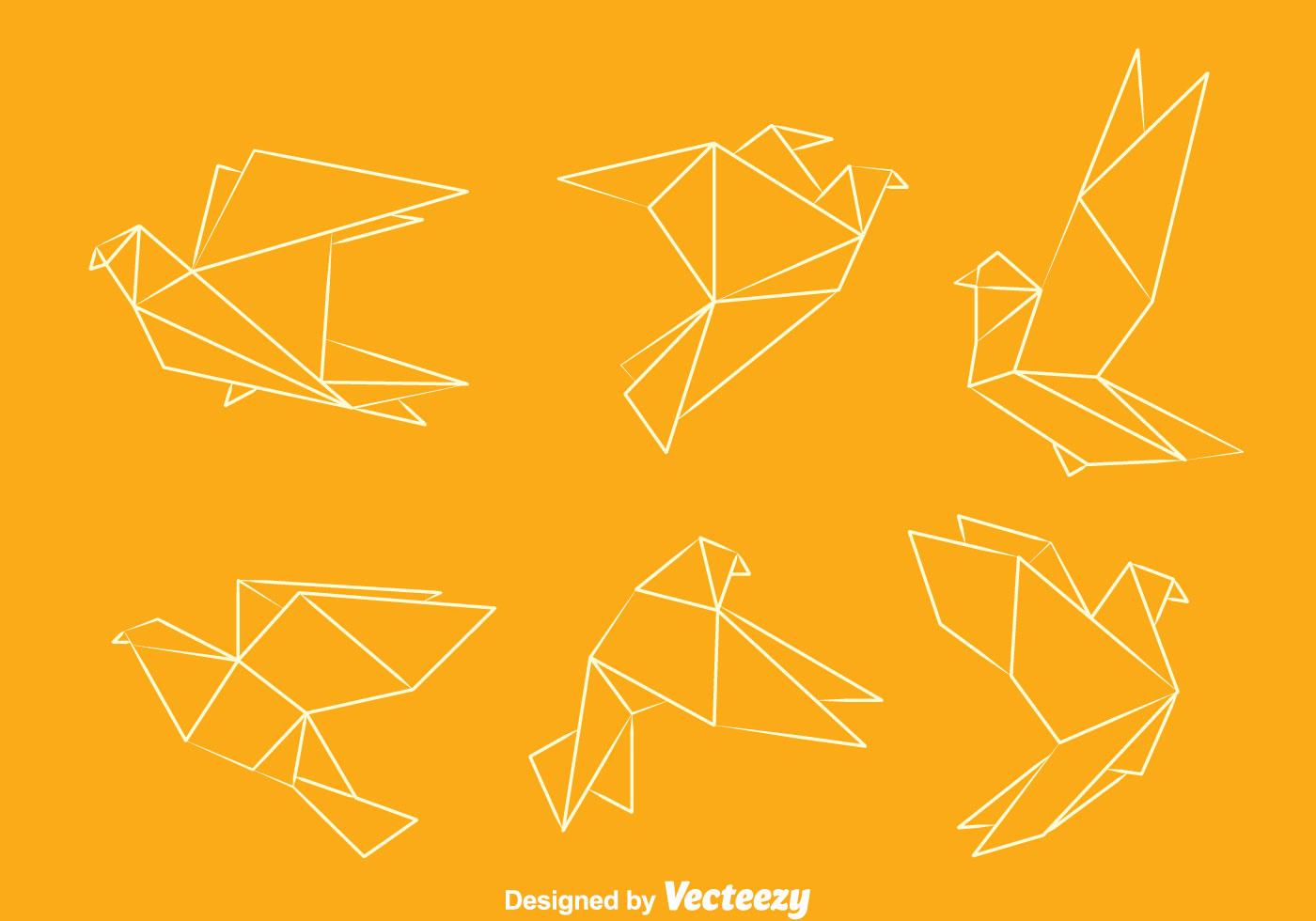 origami pigeon vectors download free vector art stock