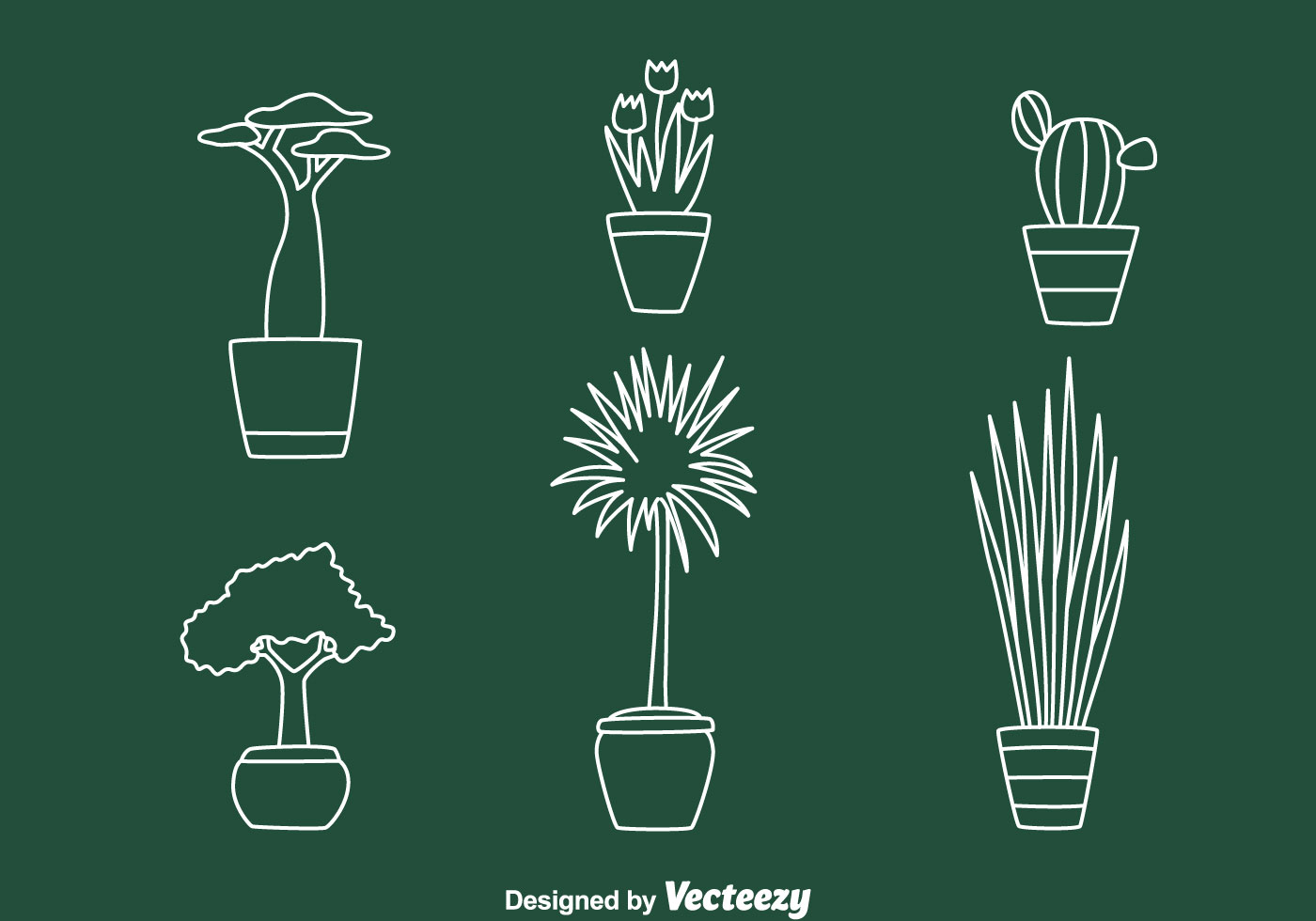 Vector Drawing Lines Download : House pot plant line vectors download free vector art