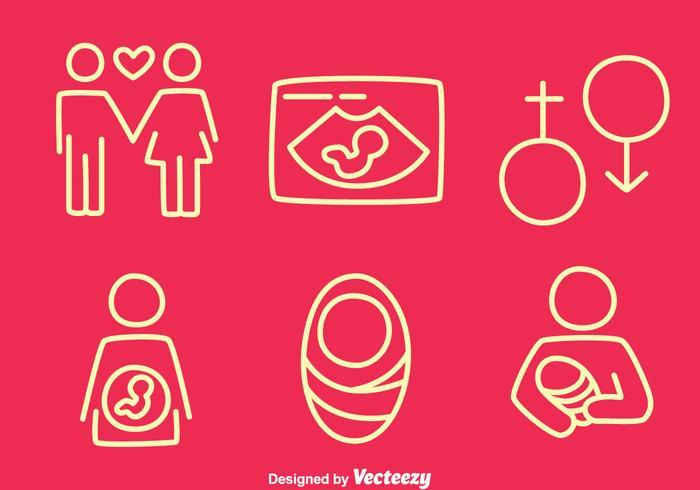 Schwangerschafts-Line-Vektoren