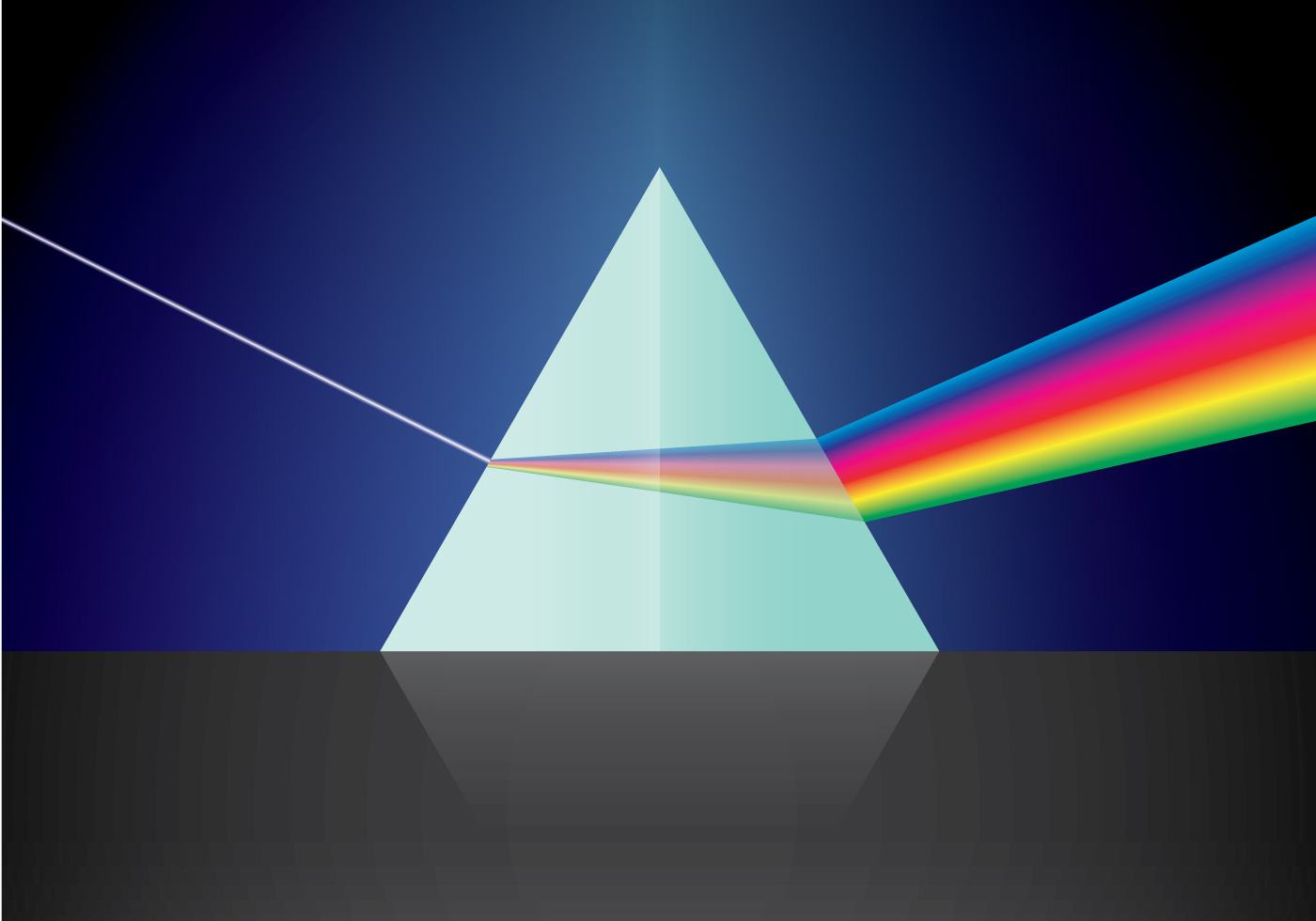 Triangular Prism and Light - Download Free Vector Art ...