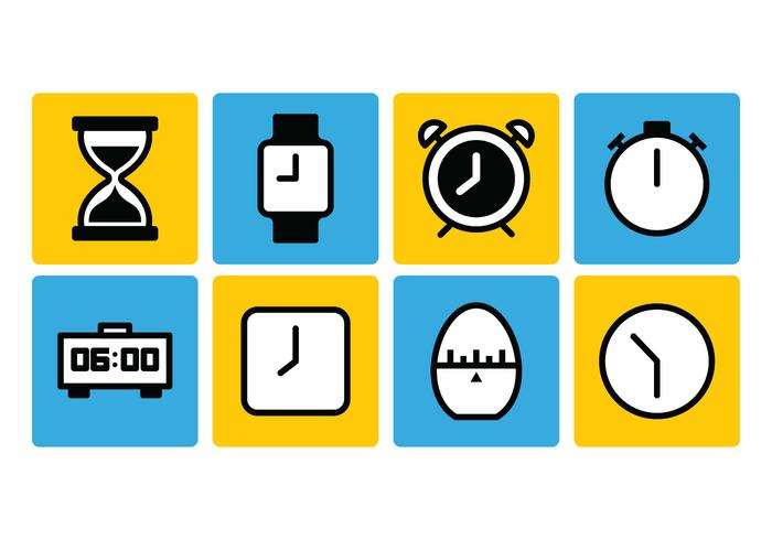 Conjunto de ícones do temporizador