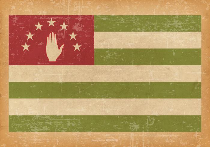 Abkahazia Flagge auf Grunge-Stil Hintergrund