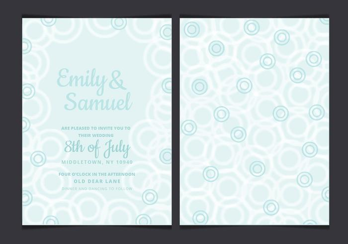 Vector Pastell Wedding Invitation