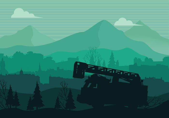 Camion Silhouette Free Vector
