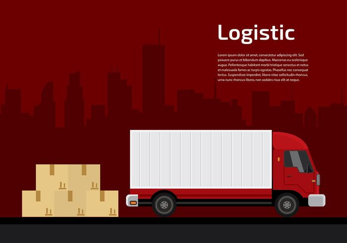 Camion Logistic Gratis Vector