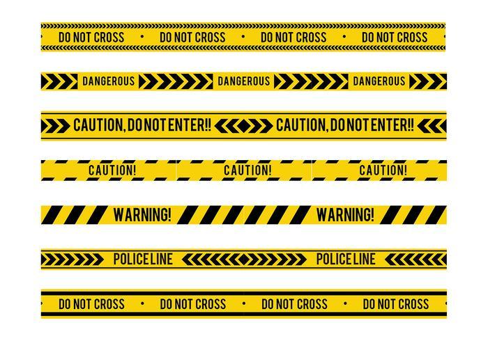 Danger Tape Seamless Free Vector
