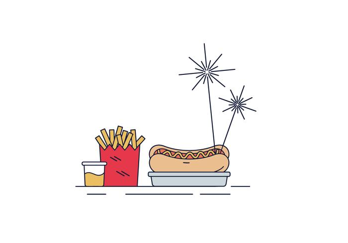 Free Hot Dog Vector