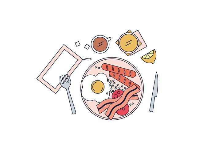 Gratis maaltijd Vector