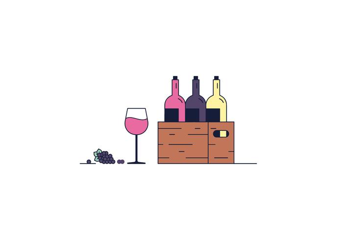 Vector libre del vino