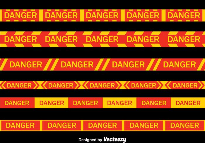 Danger Vector Tape Collection