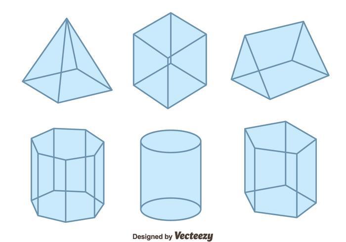 3D Geometric Shapes Vector - Download Free Vector Art, Stock