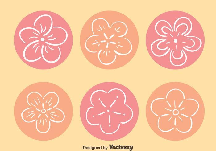 Hand Drawn Peach Blossom Vectors