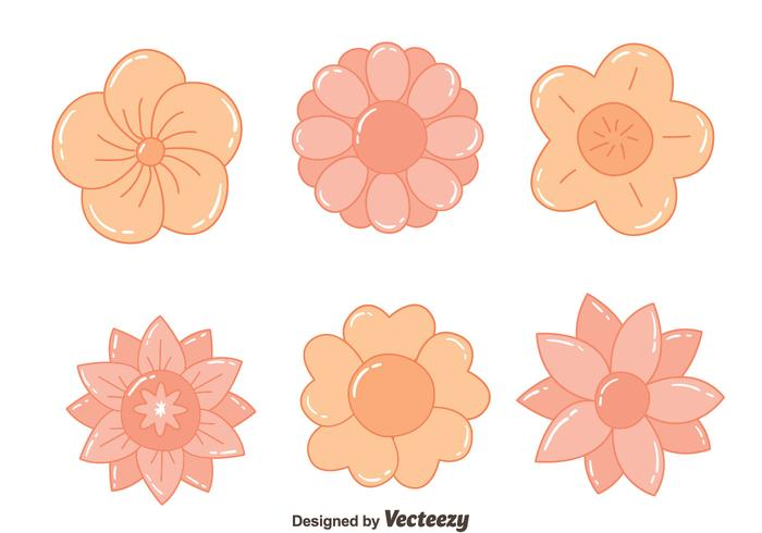 Nice Hand Drawn Flowers Vectors
