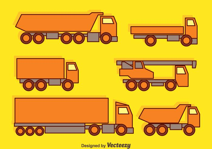 Trucks Collection Vector