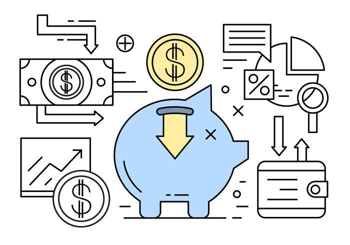 Linear Banking und Finance Vector Elements