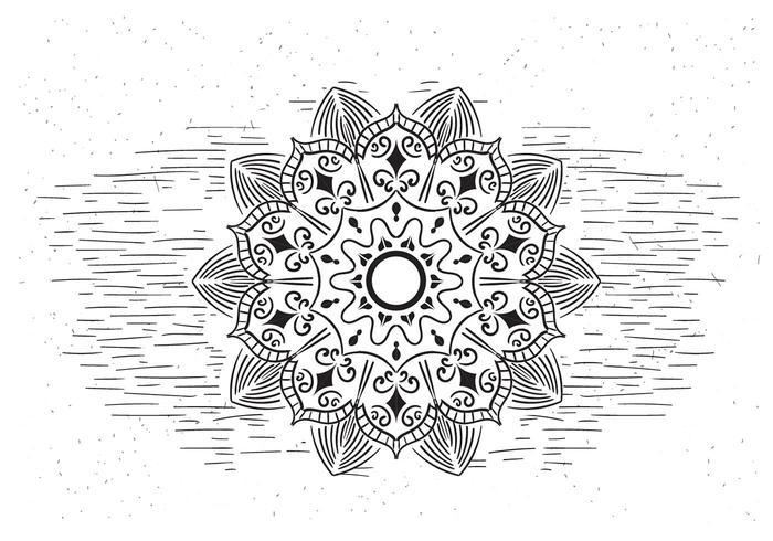 Gratis Mandala Vector Illustratie van de bloem