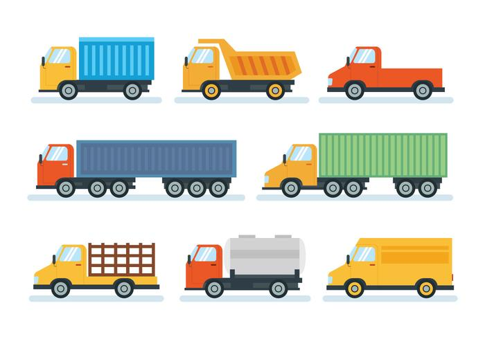 Flat Simple Camion Vector Download Free Vectors Clipart Graphics Vector Art
