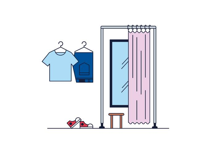 Gratis Fitting Room Vector