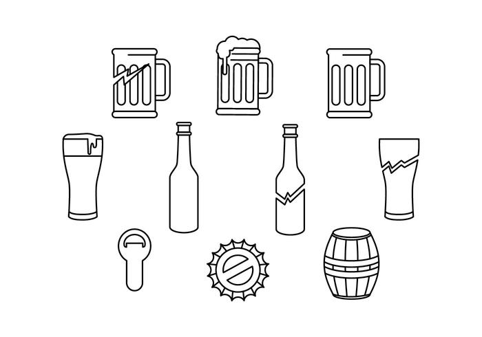 Free Beer And Baverage Icon Vector