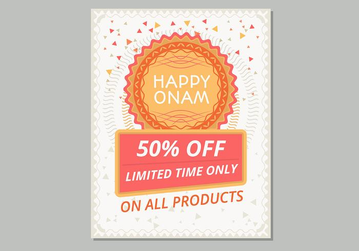 Happy Onam Sale Poster Template