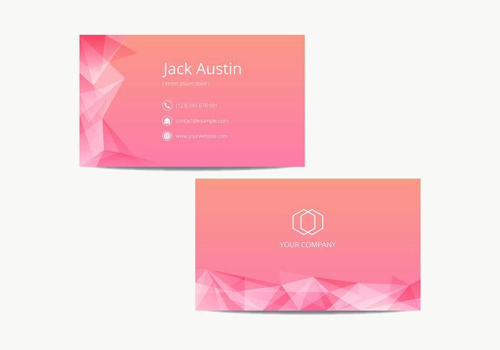 Pink Modern Name Card Template Vector