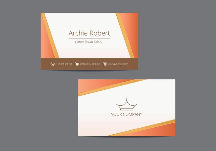 Tarjetas. Name Card Template