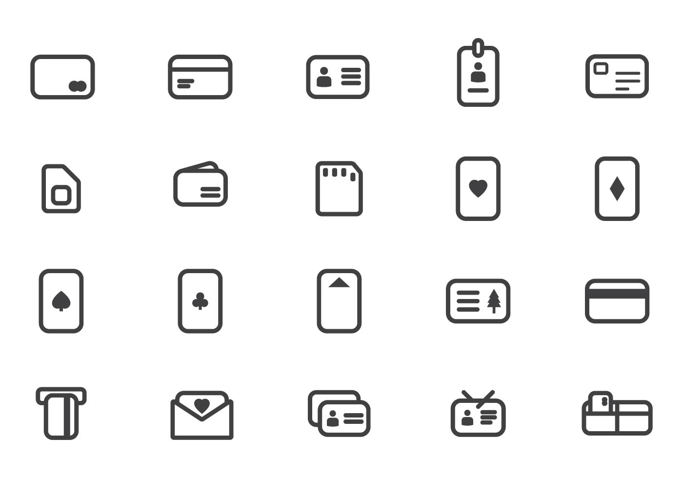 Vector libre de Tarjetas - Descargue Gráficos y Vectores Gratis