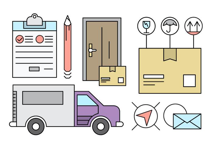 Free Linear Delivery Icons