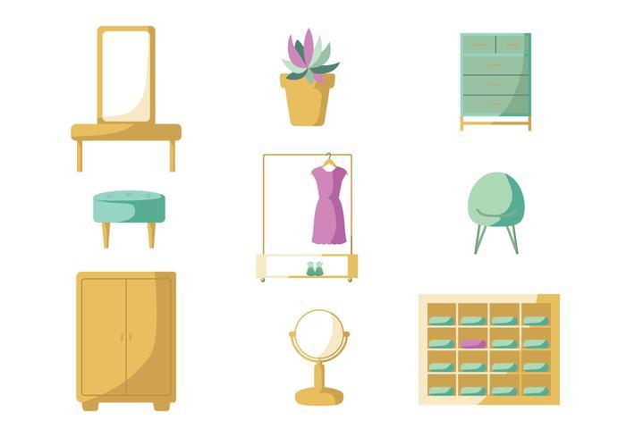 Minimaliste Dressing Room Vector Pack