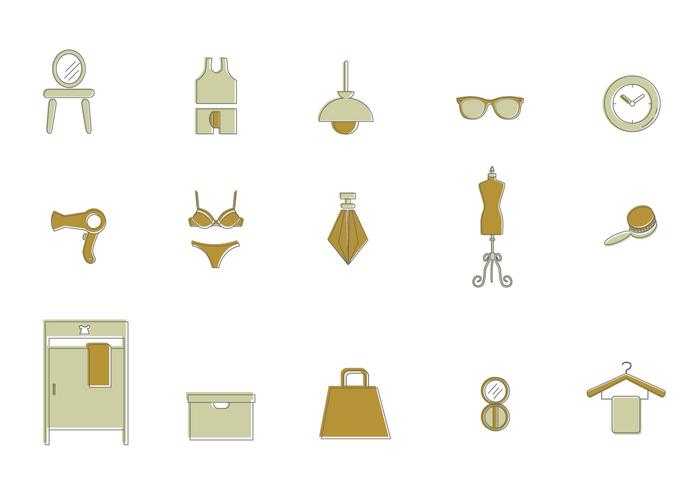 Dressing Room Icon Vectors