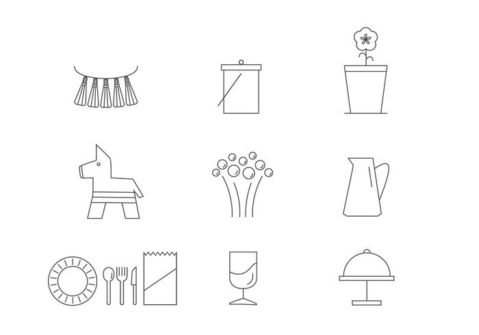 Essential Spring Party Icon Vectors