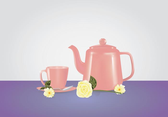 Pink Teapot Mock Up