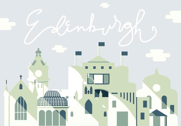 Vector Illustratie van Edinburgh City