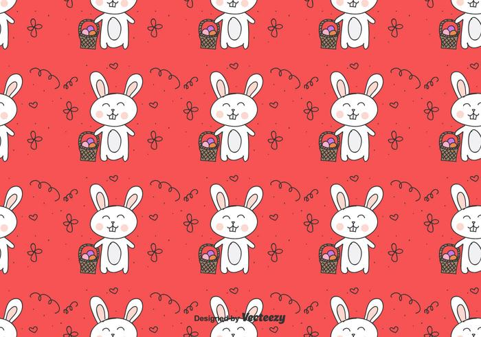 Easter Bunny Vector Pattern