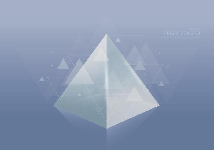 Sammanfattning Prism Bakgrund och textmall vektor