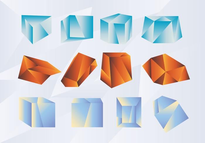 Abstract Shape Gradient Prisma Vector Pack