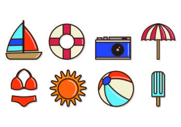 Set Of Playa icônes