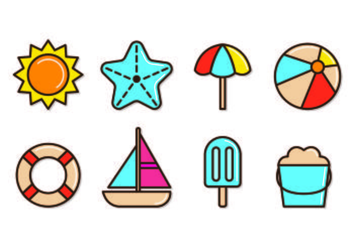 Set Of Playa Icons