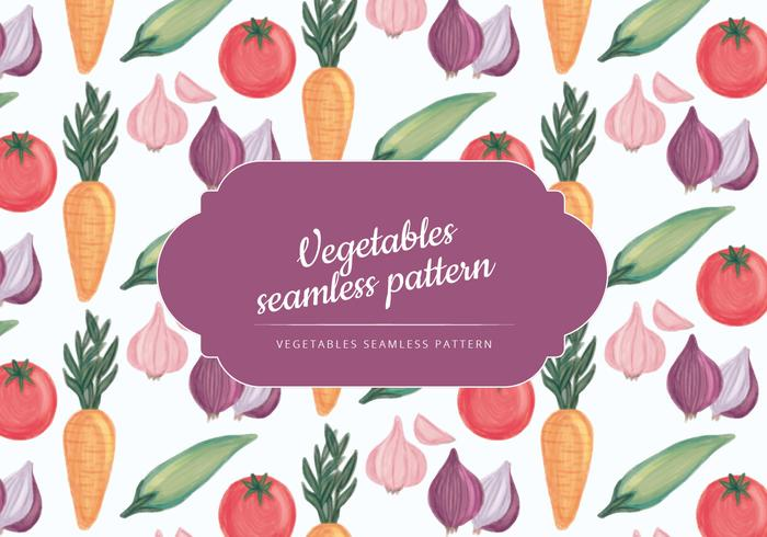 Vector Hand Drawn Vegetables Pattern