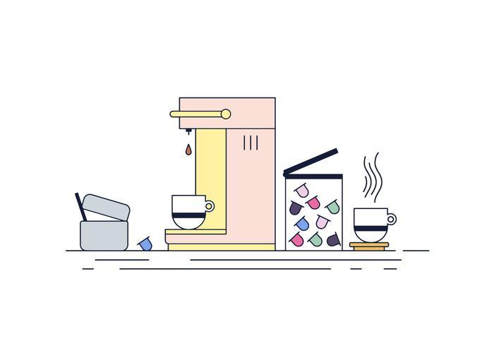 Gratis-Kaffee-Maschine Vektor