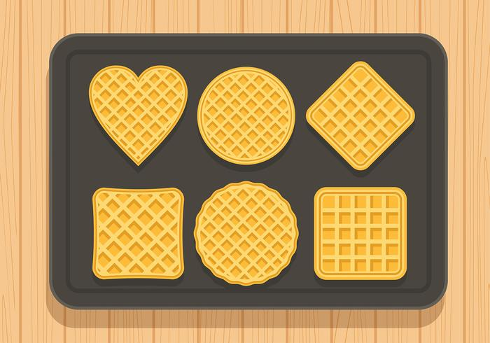 Waffles Set Free Vector